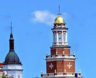 Universidad residencial Yale University New Haven Connecticut de la torre de oro foto de archivo