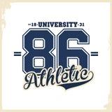 Universidad, tipografía de la universidad, gráficos de la camiseta para la ropa Desgaste atlético ilustración del vector