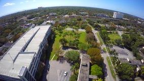 Universidad video aérea del clip 3 de Miami 4k almacen de video