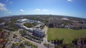 Universidad video aérea del clip 8 de Miami 4k almacen de metraje de vídeo