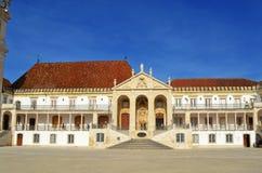 Universidade da construção da reitoria de Coimbra Imagens de Stock