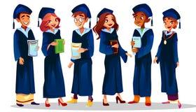 A universidade da faculdade gradua a ilustração do vetor ilustração stock