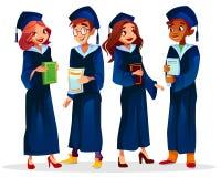 A universidade da faculdade gradua a ilustração do vetor ilustração royalty free