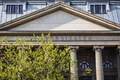 Universidade de Bucareste Foto de Stock