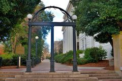 Universidade de Georgia Athens Arch imagens de stock