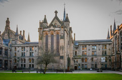 Universidade de Glasgow no por do sol, Escócia Fotos de Stock Royalty Free