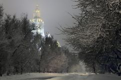 Universidade de Moscovo. Fotos de Stock Royalty Free