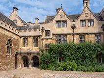 Universidade de Oxford, faculdade de Merton imagem de stock