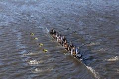 A universidade de Vanderbilt compete na cabeça da faculdade Eights de Charles Regatta Men Foto de Stock