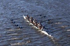 A universidade de Villanova compete na cabeça da faculdade Eights do ` s de Charles Regatta Men Foto de Stock