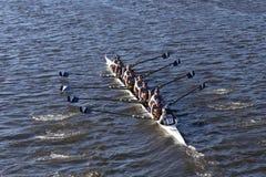 A universidade de Villanova compete na cabeça da faculdade Eights de Charles Regatta Men Imagem de Stock