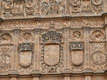 Universidade do detalhe de Salamanca fotografia de stock royalty free