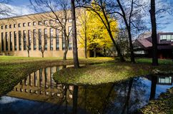 Universidade do Hokkaido em Autumn Season Imagens de Stock