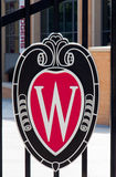 Universidade do logotipo de Wisconsin Foto de Stock