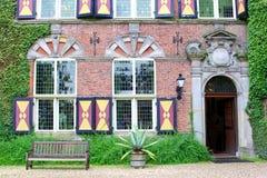 Universidade do negócio de Nyenrode do castelo da fachada, Países Baixos imagens de stock