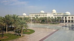 A universidade do terreno de Sharjah, Emiratos ?rabes Unidos fotografia de stock