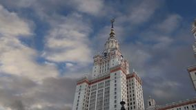 Universidade estadual de Lomonosov Moscou, construção principal, Rússia, video estoque