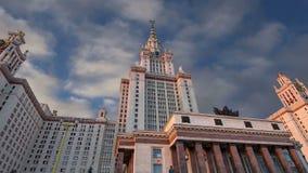 Universidade estadual de Lomonosov Moscou, construção principal, Rússia, vídeos de arquivo