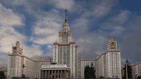 Universidade estadual de Lomonosov Moscovo, construção principal, Rússia video estoque