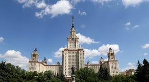 Universidade estadual de Lomonosov Moscovo, construção principal, Rússia Fotos de Stock Royalty Free