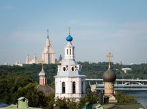 Universidade estadual de Moscou vista de RAS Viewpoint imagens de stock royalty free