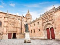 Universidade famosa região de Salamanca, Castilla y Leon, Espanha Foto de Stock Royalty Free