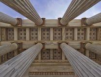Universidade nacional de Atenas Grécia, teto da entrada Fotos de Stock