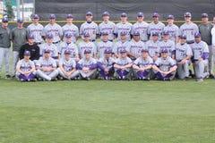 Università 2010 di squadra di baseball di Portland fotografia stock libera da diritti