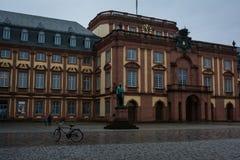 Università calma di Mannheim in tempo grigio e nuvoloso Fotografia Stock Libera da Diritti