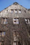 Università del corridoio di assemblea della facciata in PoznaÅ Fotografia Stock Libera da Diritti