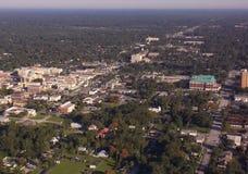 Università dello Stetson e DeLand, vista aerea del centro di Florida Fotografie Stock Libere da Diritti