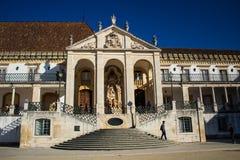 Università di Coimbra immagini stock