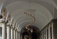 Università di corridoio dell'interno di Milano Immagini Stock