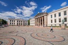 Università di Oslo grandangolare Immagine Stock