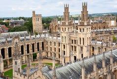 Università di Oxford, istituto universitario medioevale Fotografia Stock Libera da Diritti