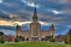 Università di Stato di Mosca Fotografie Stock Libere da Diritti