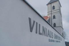 Università di Vilnius a Kaunas immagini stock libere da diritti