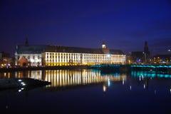 Università di Wroclaw di notte Fotografie Stock Libere da Diritti