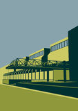 Università nazionale di Kiev di costruzione e di architettura Illustrazione di vettore Fotografia Stock