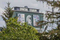 Università Spartan Stadium dello stato del Michigan Fotografia Stock Libera da Diritti