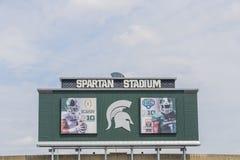 Università Spartan Stadium dello stato del Michigan Immagine Stock Libera da Diritti