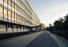 università vuota della città universitaria di Strasburgo Fotografia Stock