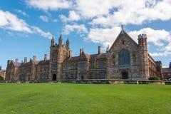 Universität Art-Gebäudefassade Sydneys der gotischen Stockfotos