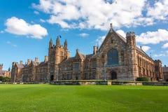 Universität Art-Gebäudefassade Sydneys der gotischen Stockbilder
