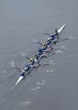 Universität des Michigan-Rudersport-Teams von oben Stockfotos