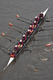 Universität des Minnesota-Rudersport-Teams von oben Lizenzfreie Stockbilder