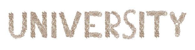 Universität geschrieben mit kleinen Würfeln Stockfoto