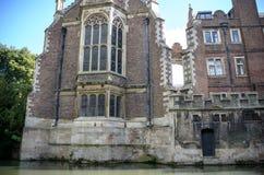Universität von Cambridge Ansicht vom Flussnocken Lizenzfreie Stockbilder