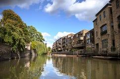 Universität von Cambridge Ansicht vom Flussnocken Lizenzfreies Stockbild