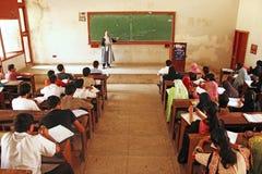 Universität von Karatschi - Studenten besuchen Vortrag stockbild
